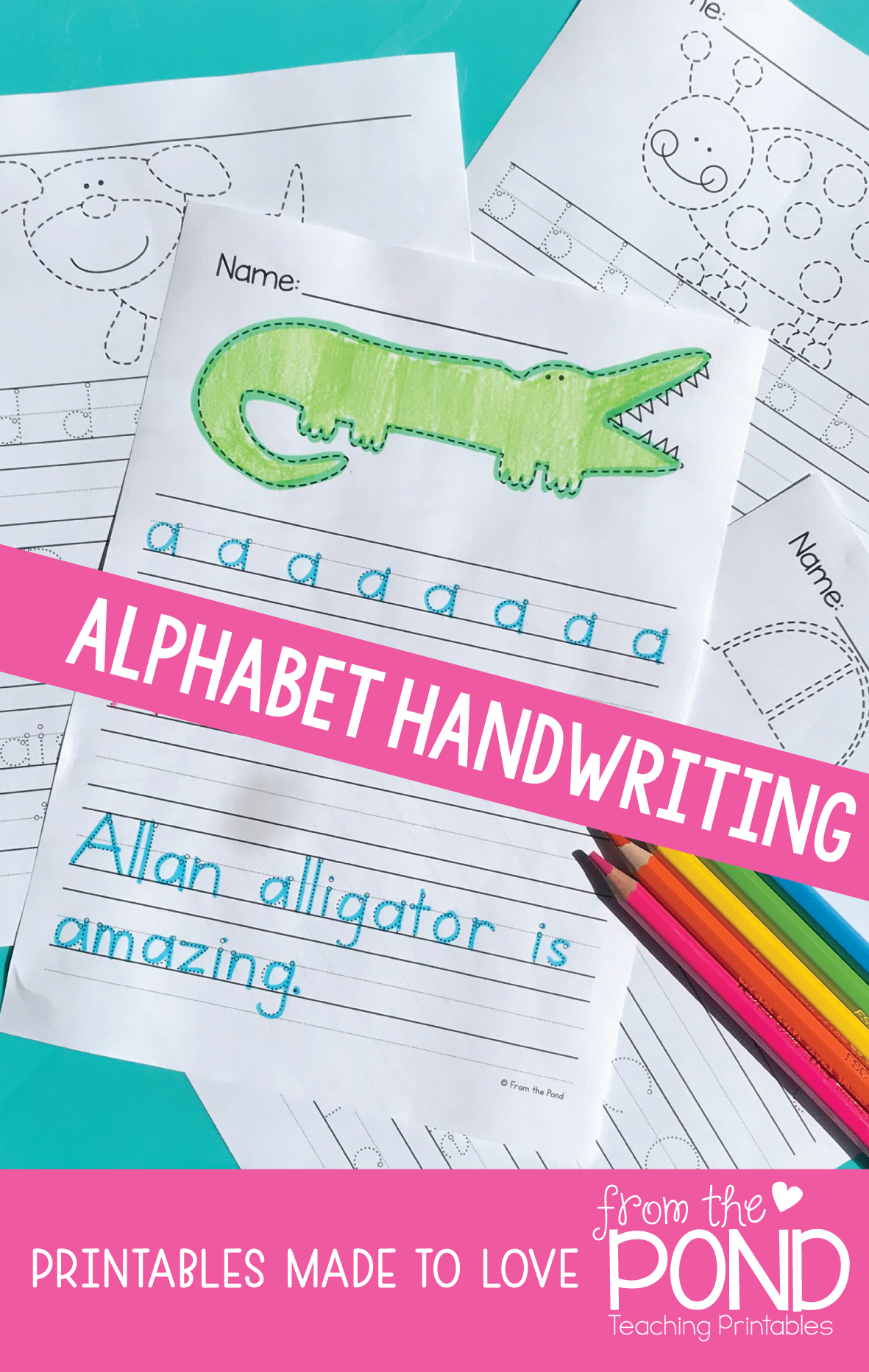 Alphabet Handwriting Worksheets Letters Tracing