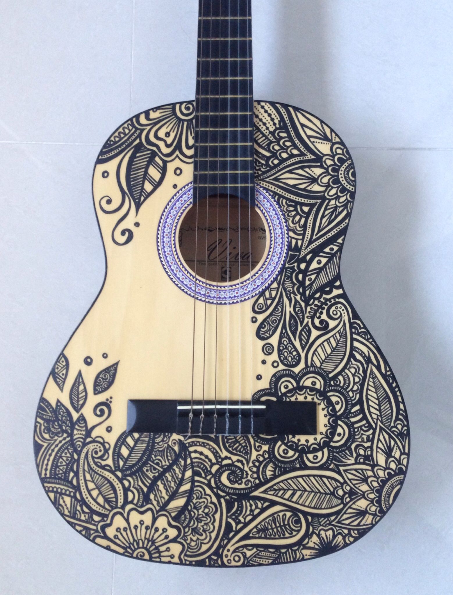 Newest Art Project Painted Guitar With Images Acoustic