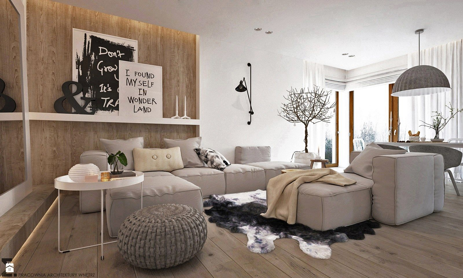Salon styl Skandynawski - zdjęcie od ELEMENTY - Salon - Styl ...