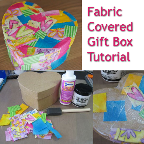 Ideas To Decorate A Box Fabric Covered Heart Shaped Gift Box Tutorial  Diy Crafts Gifts