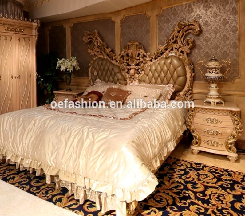 Oe Fashion Royal Classic Bedroom Furniture Sets Comfortable Bed