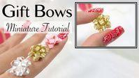 DIY Miniature Gift Bow Ribbon Tutorial #dollhouseminiaturetutorials