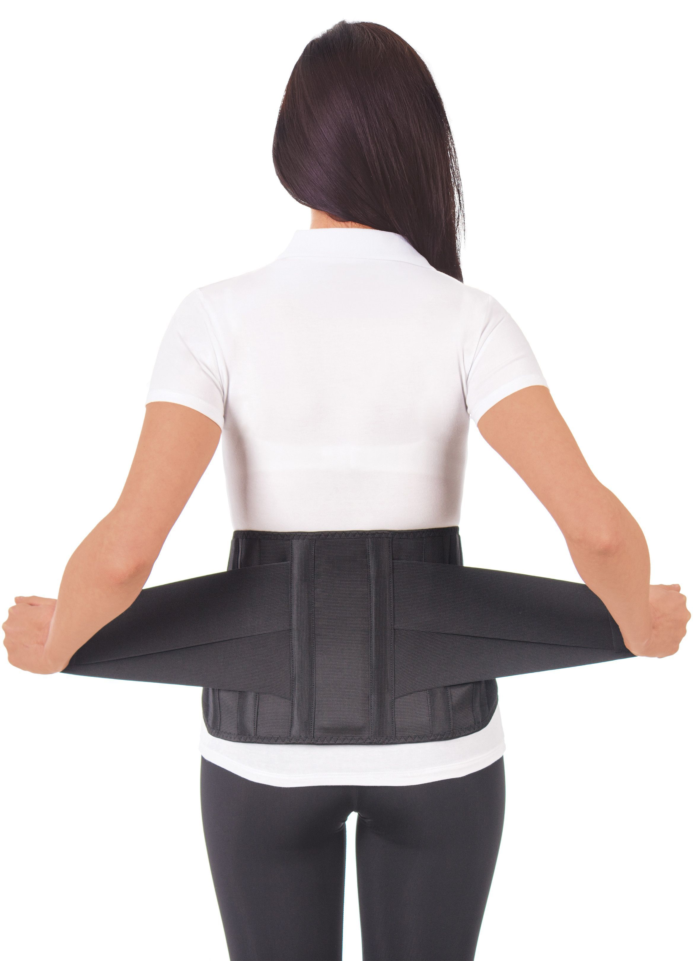 53128ce7e38 Lumbar Lower Back Brace Support Belt   Pain Relief and Comfort Posture -  Black