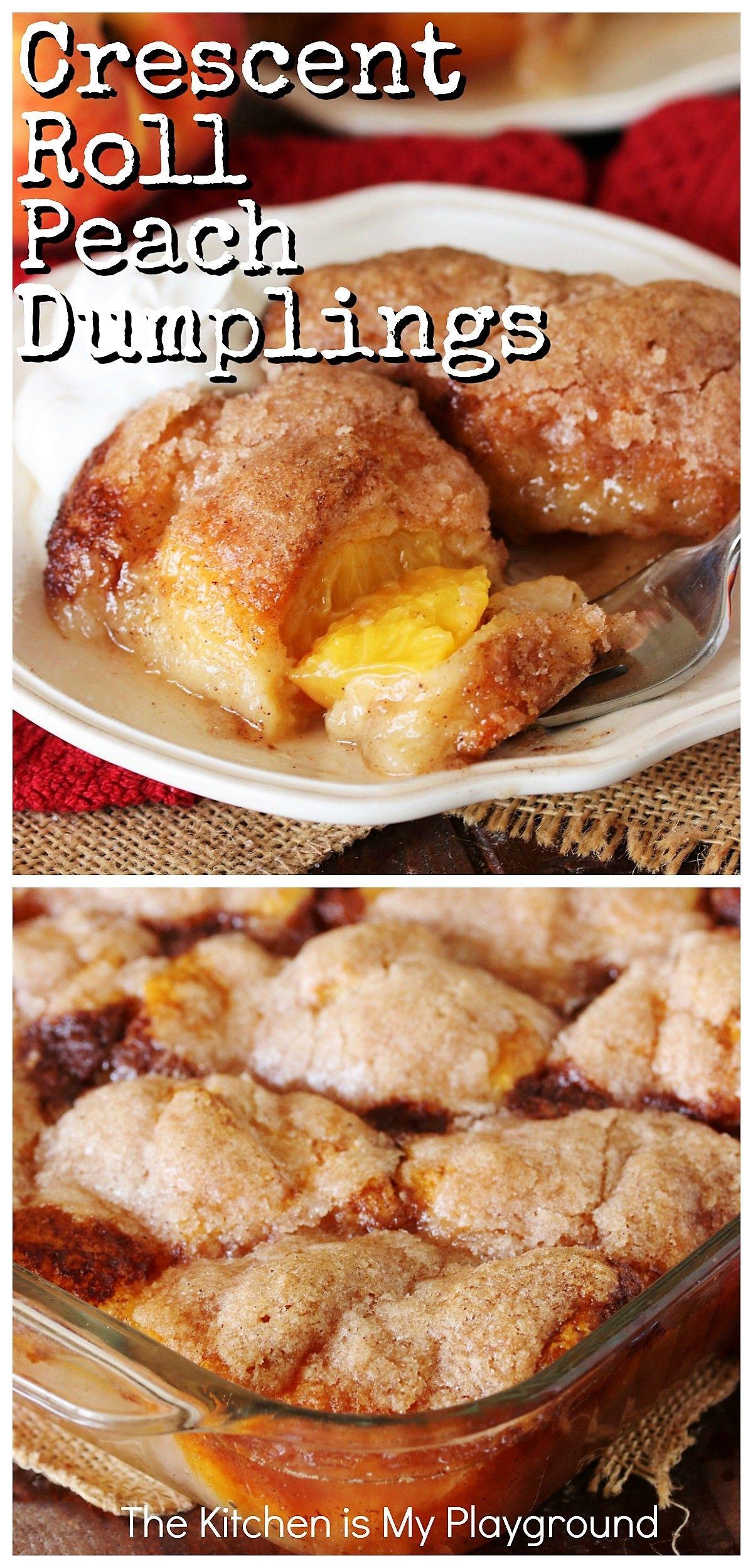Crescent Roll Peach Dumplings