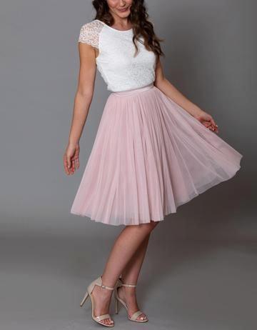 Tull Rock Von Kurzer Dauer In 2020 Kleid Standesamt Kurz Rosa Kleid Hochzeitsgast Tullrock