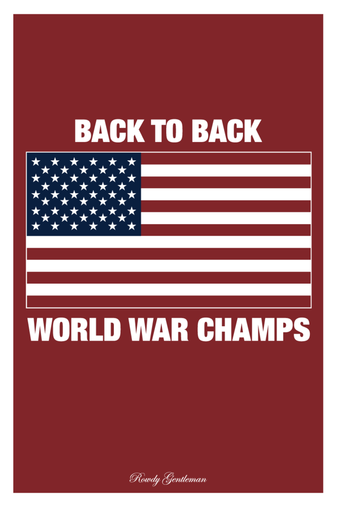 1342ac5c7cca Back to Back World War Champs - Red - Wall Poster | Tanks | Poster ...