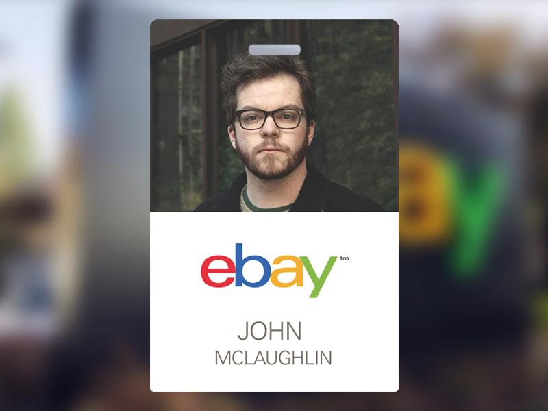 ebay employee badge 工牌 badge design badge employee id card