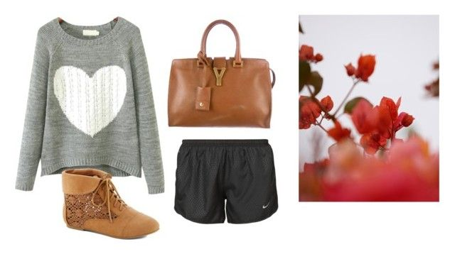 """""""Untitled #13068"""" by jayda365 ❤ liked on Polyvore featuring NIKE, Yves Saint Laurent and GUINEVERE"""