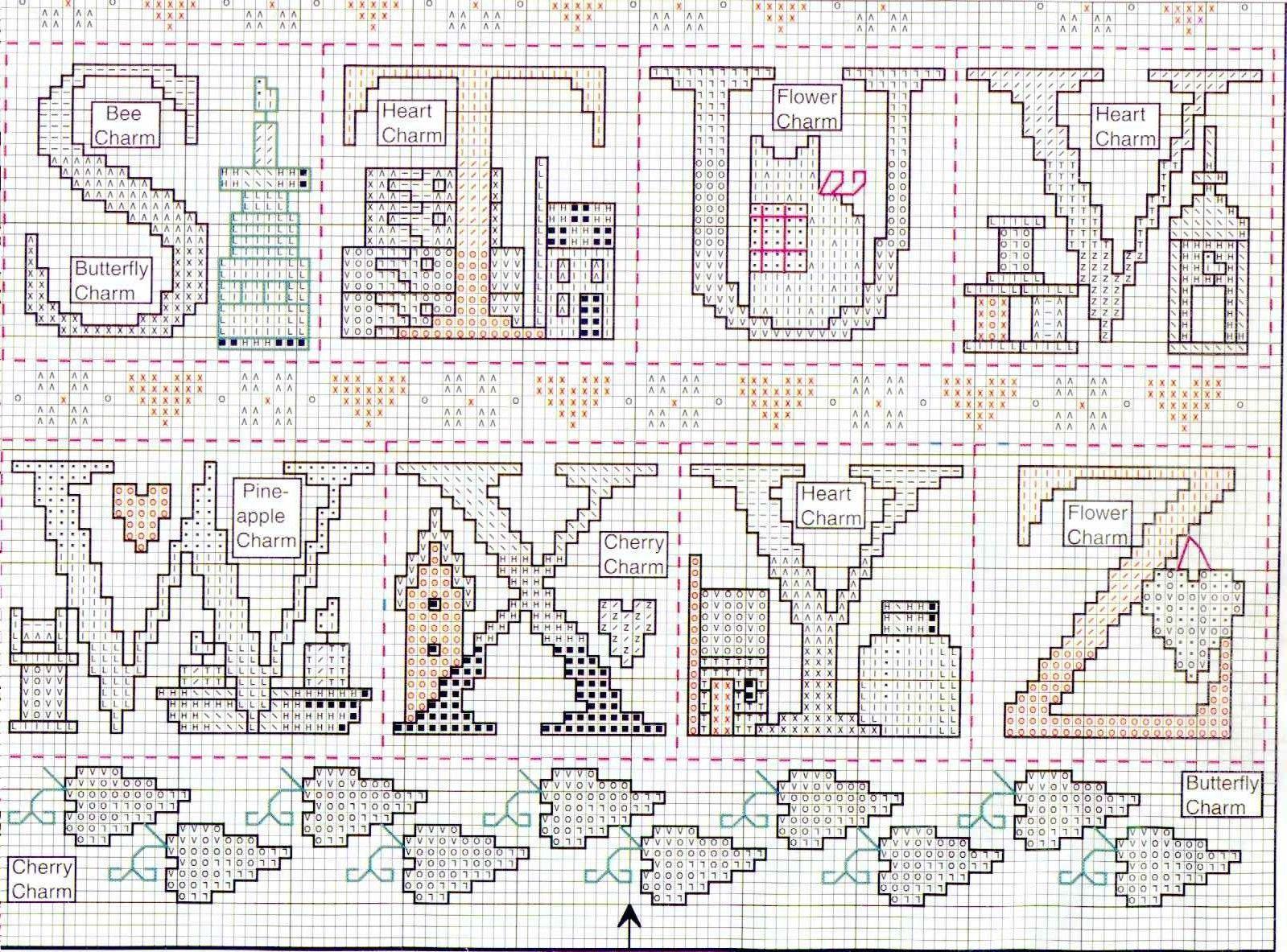 Schema punto croce Abc Tea 03