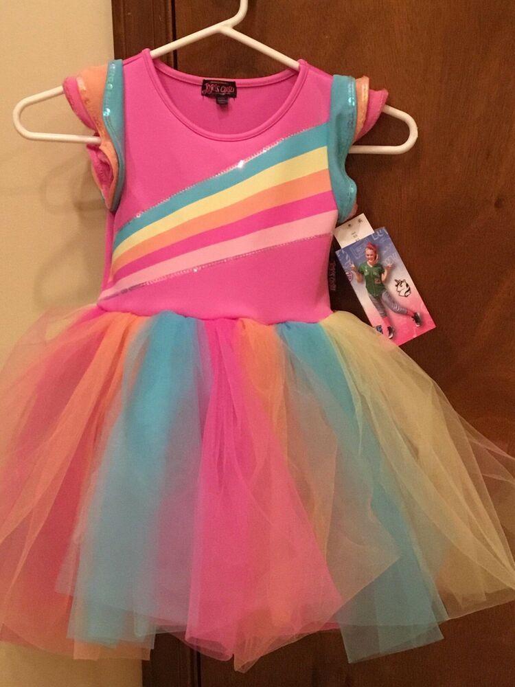 Girls JoJo Siwa Rainbow Tutu Party Dress