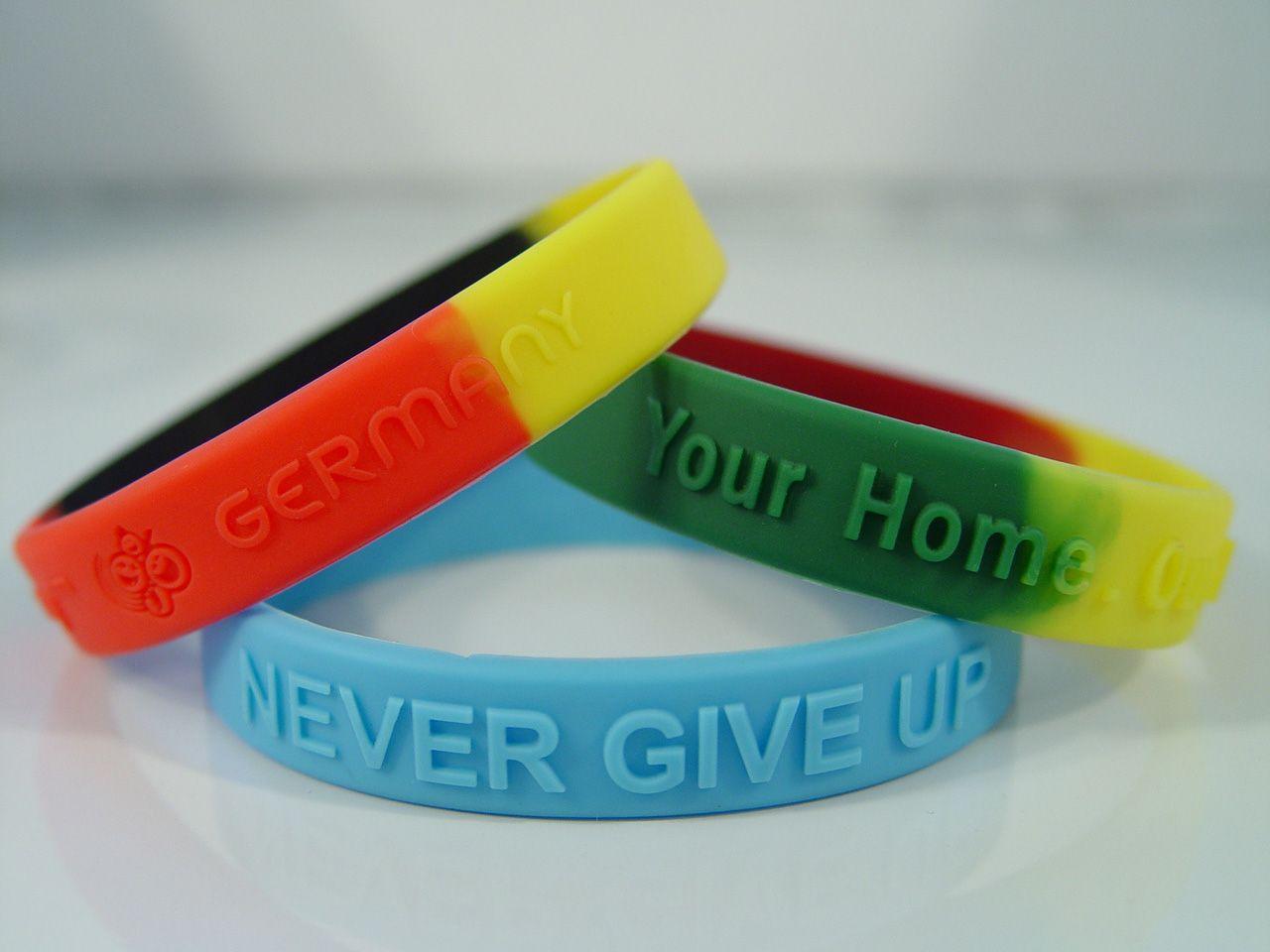 Custom Silicone Wristbands Rubber Bracelets Cuff One Direction Logo