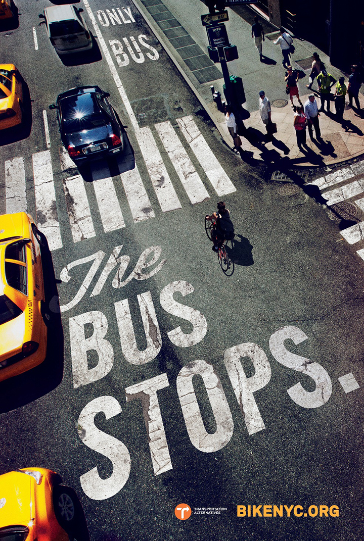 This campaign created by Mother NY for the cycling program of Citi Bike BikeNYC