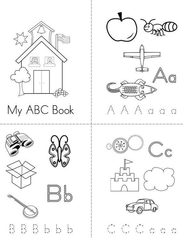 my abc mini book sheet 1 - Printable Preschool Books