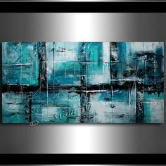 Hand Made Large Acrylic Painting On Canvas by largeartwork on Etsy