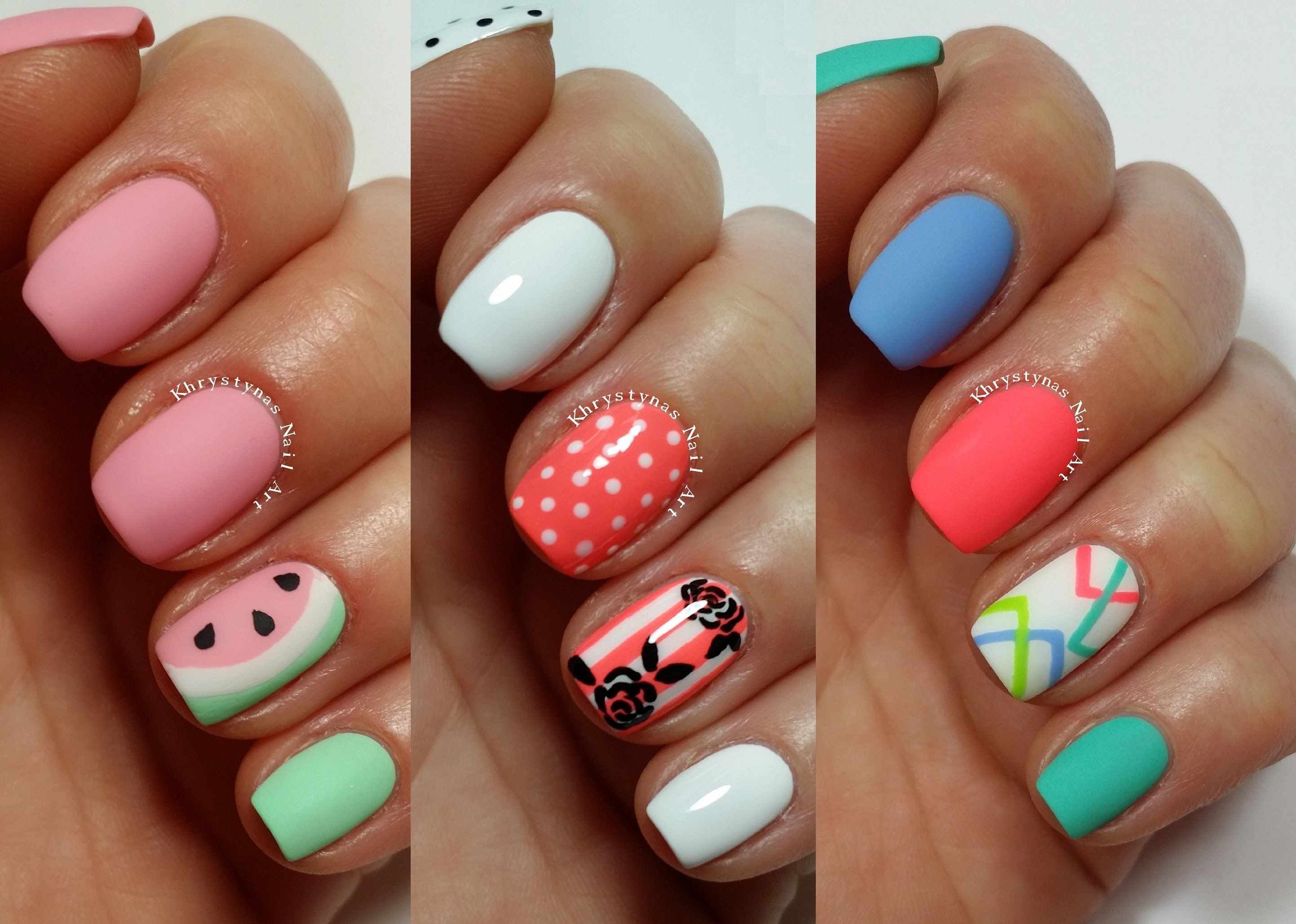 3 Easy Nail Art Designs for Short Nails | Freehand #2 | Beauty ...