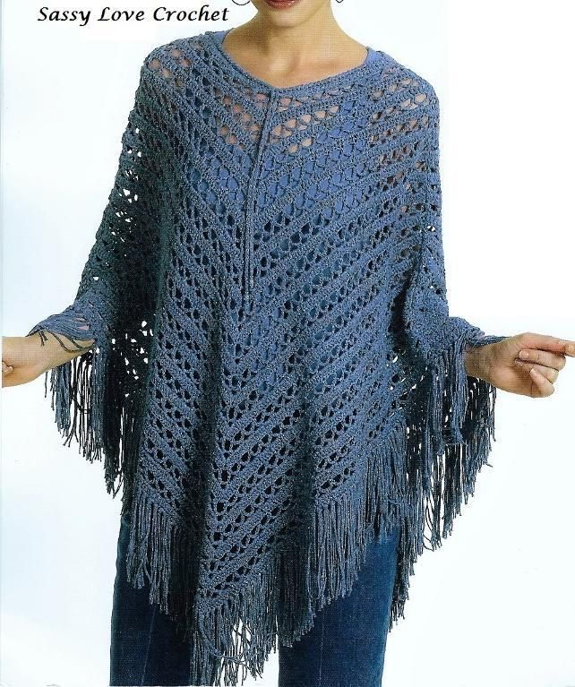 Looking for your next project? You\'re going to love Navy Poncho ...