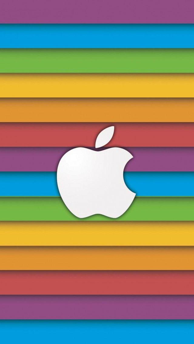 Rainbow Apple Iphone Wallpapers Apple Wallpaper Iphone Apple
