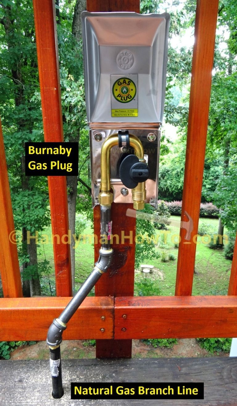 Burnaby Gas Plug G0101 Ss 50 120dc Connected To Natural Line For Bbq Grill