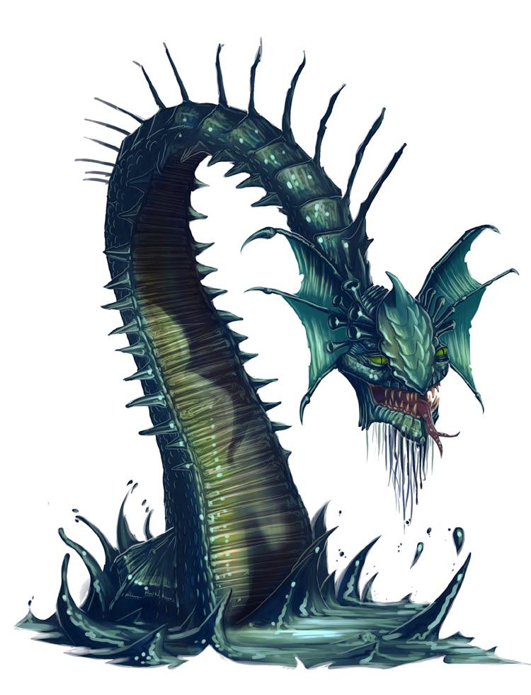 Pathfinder Sea Serpent Png Download Transparent Png Image Creature Picture Creature Artwork Deep Sea Creatures