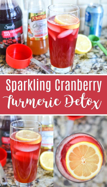 Sparkling Cranberry Turmeric Detox Cranberry Apple Cider Vinegar