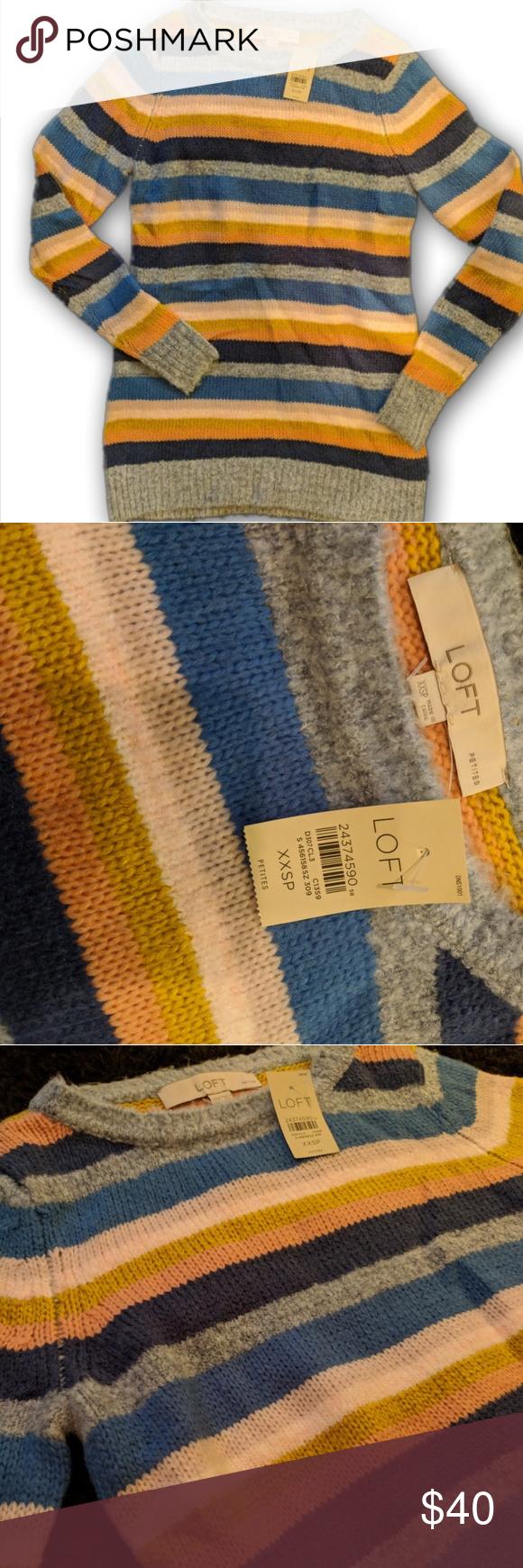NWT LOFT Striped Sweater XXSP 🆕** I consider all offers
