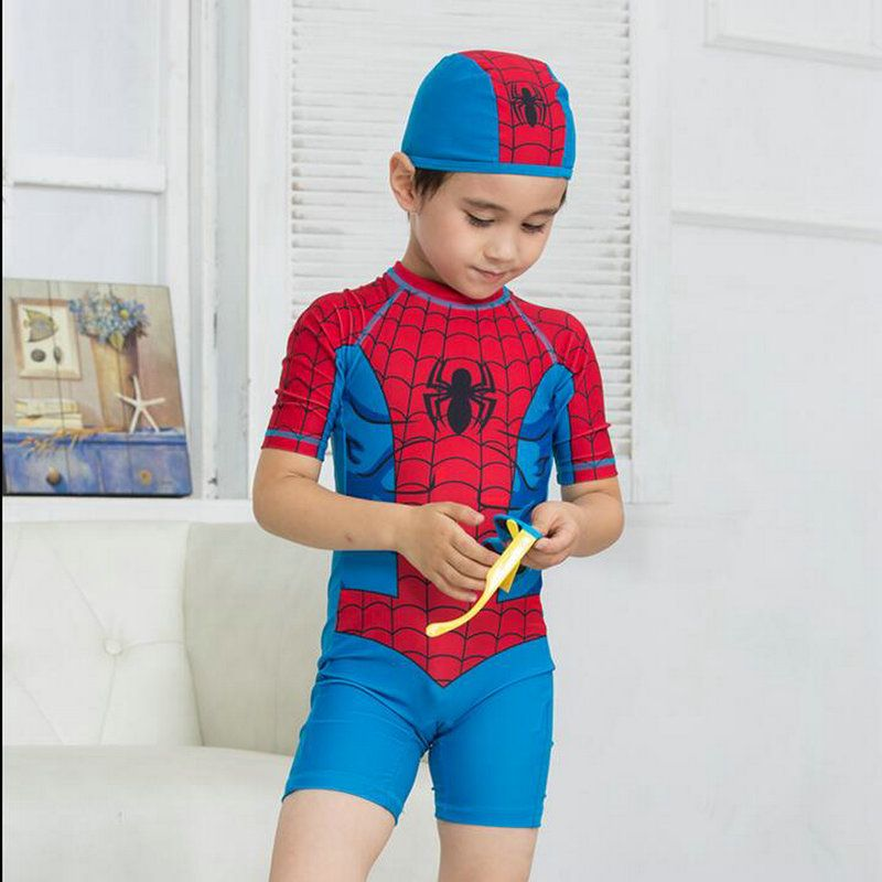 1d4743f4e1 Spiderman Costume Kids Swimwear for Boy Girls High Quality Summer Style One  Pieces Swimsuit Child Swimming