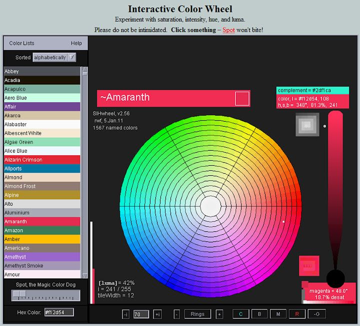 Interactive Color Wheel Id Pinterest Color Inspiration