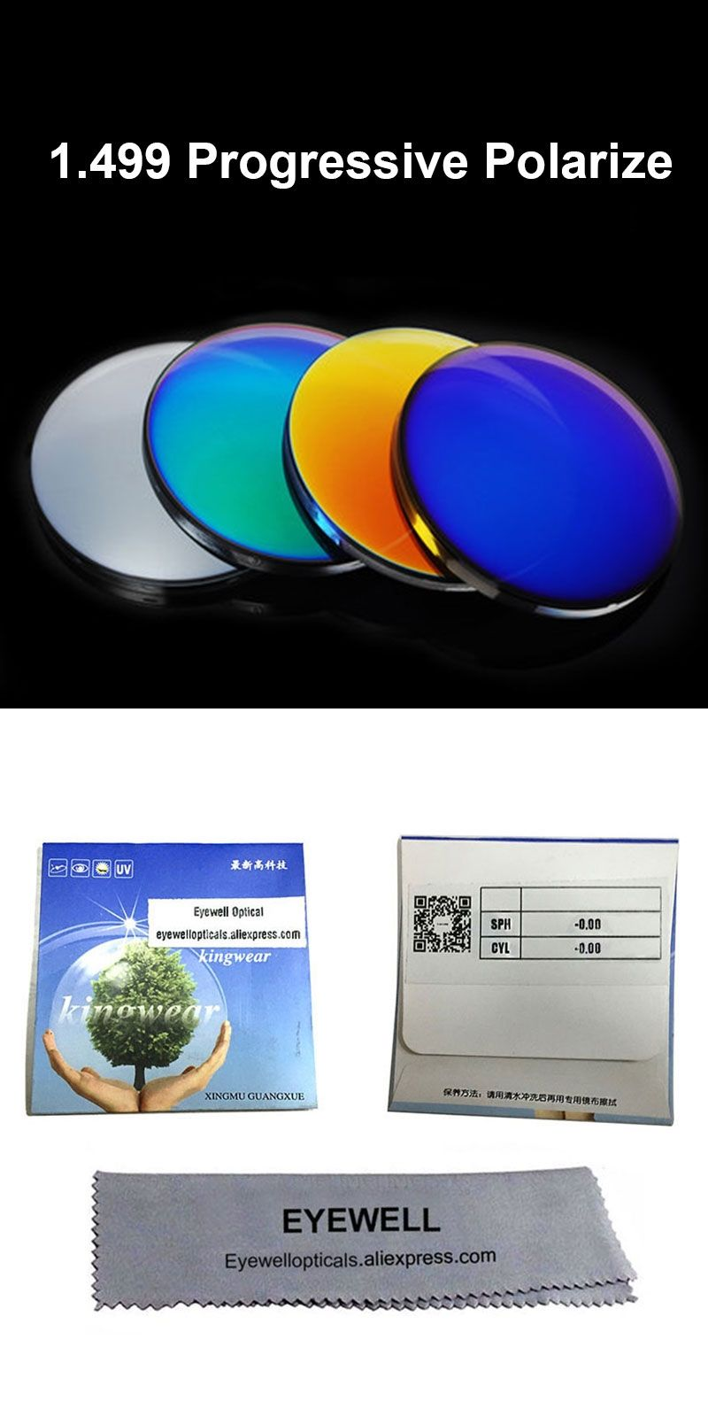 b8d33751d2c BAONONG 1.499 Progressive Polarized Mirror Coating Lenses Prescription Sun glasses  Optical Mirror Finish Lenses