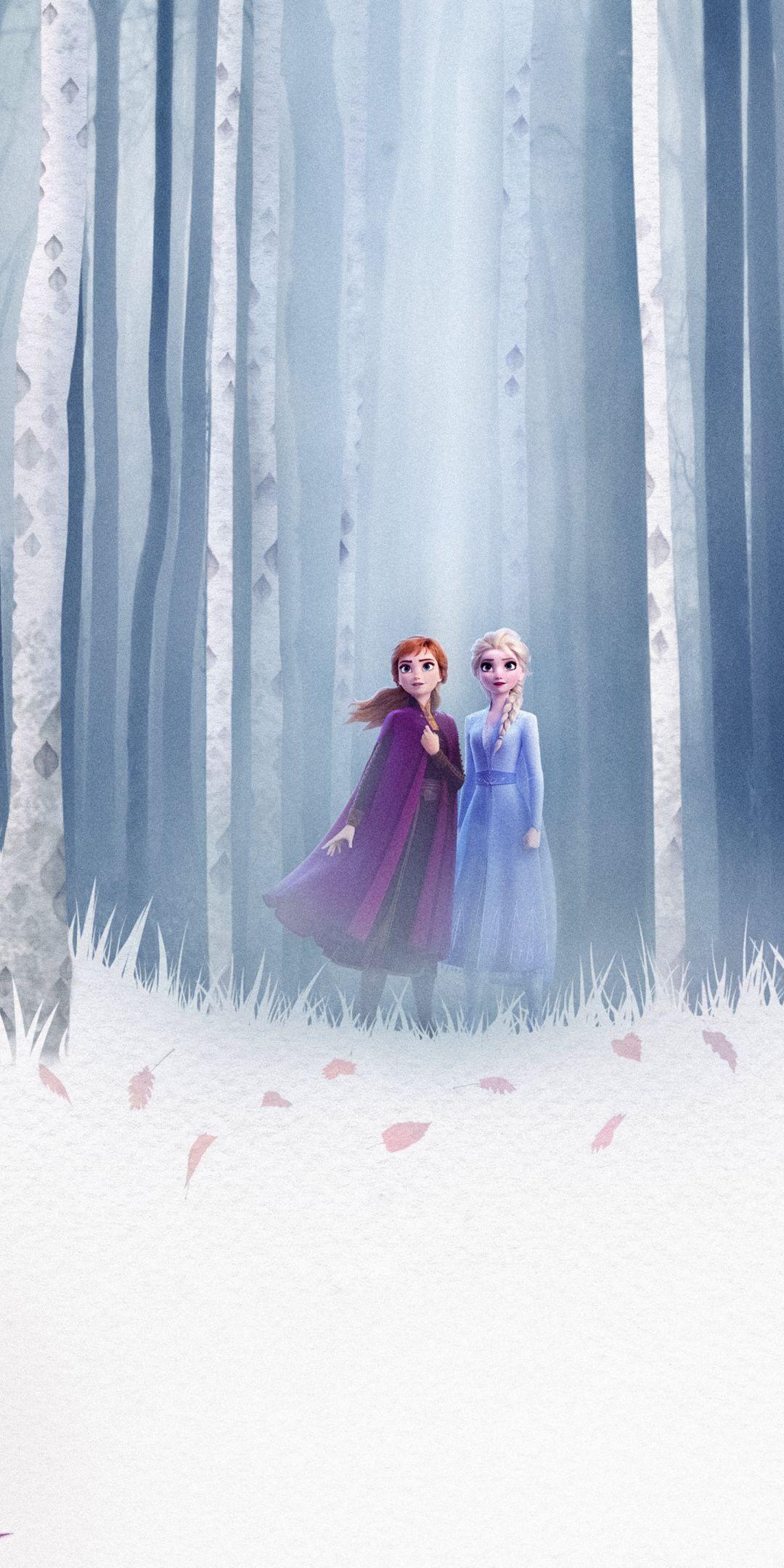 1080x2160 Frozen 2 Queen Elsa And Anna Forest 2019 Wallpaper Frozen Disney Movie Disney Princess Frozen Disney Princess Wallpaper