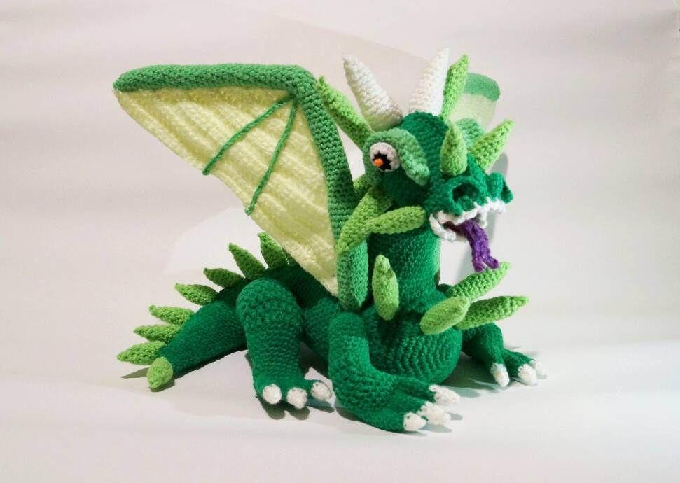 Crochet Amigurumi Dragon : Crochet dragon pdf pattern game of thrones dragon dragon toy