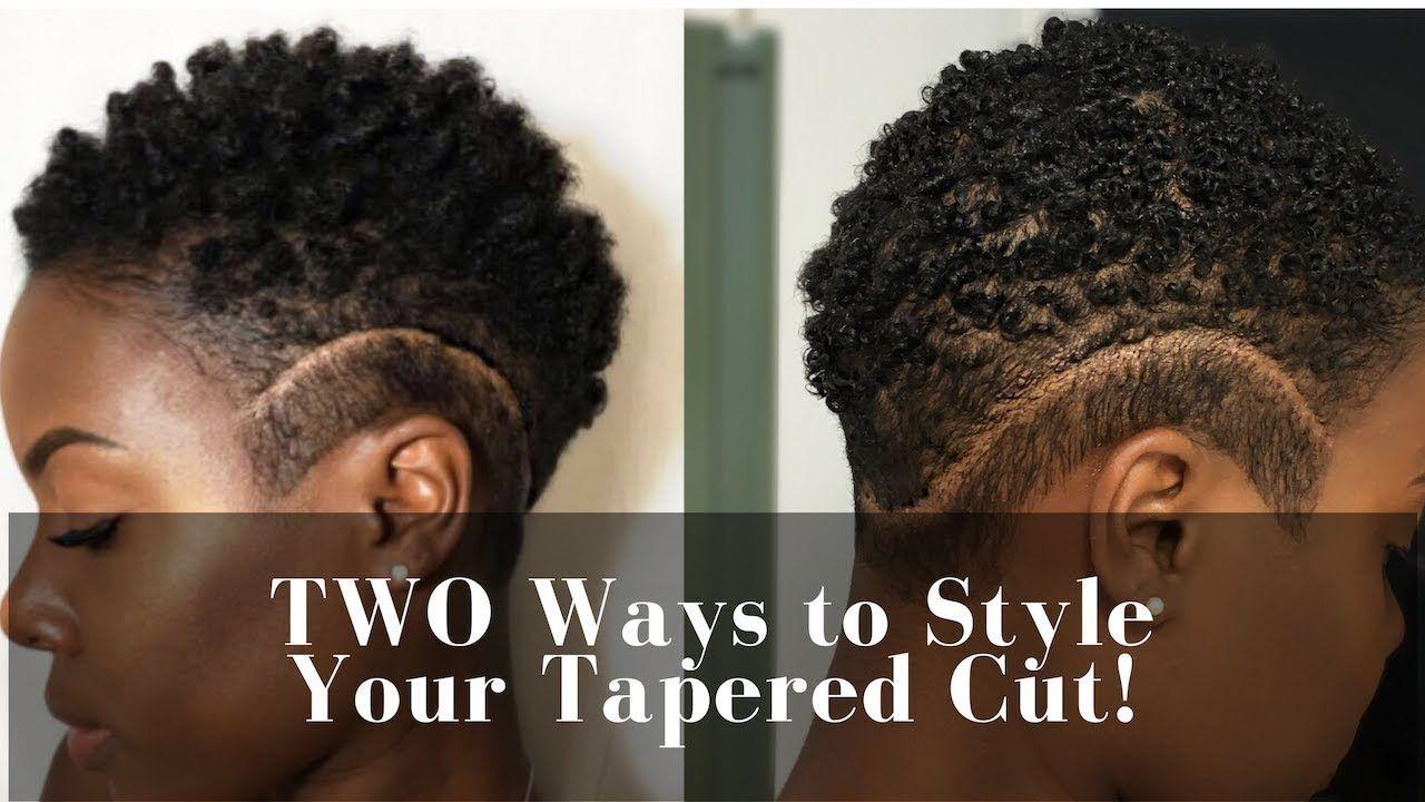Two easy ways to style tapered cut n a t u r a l pinterest