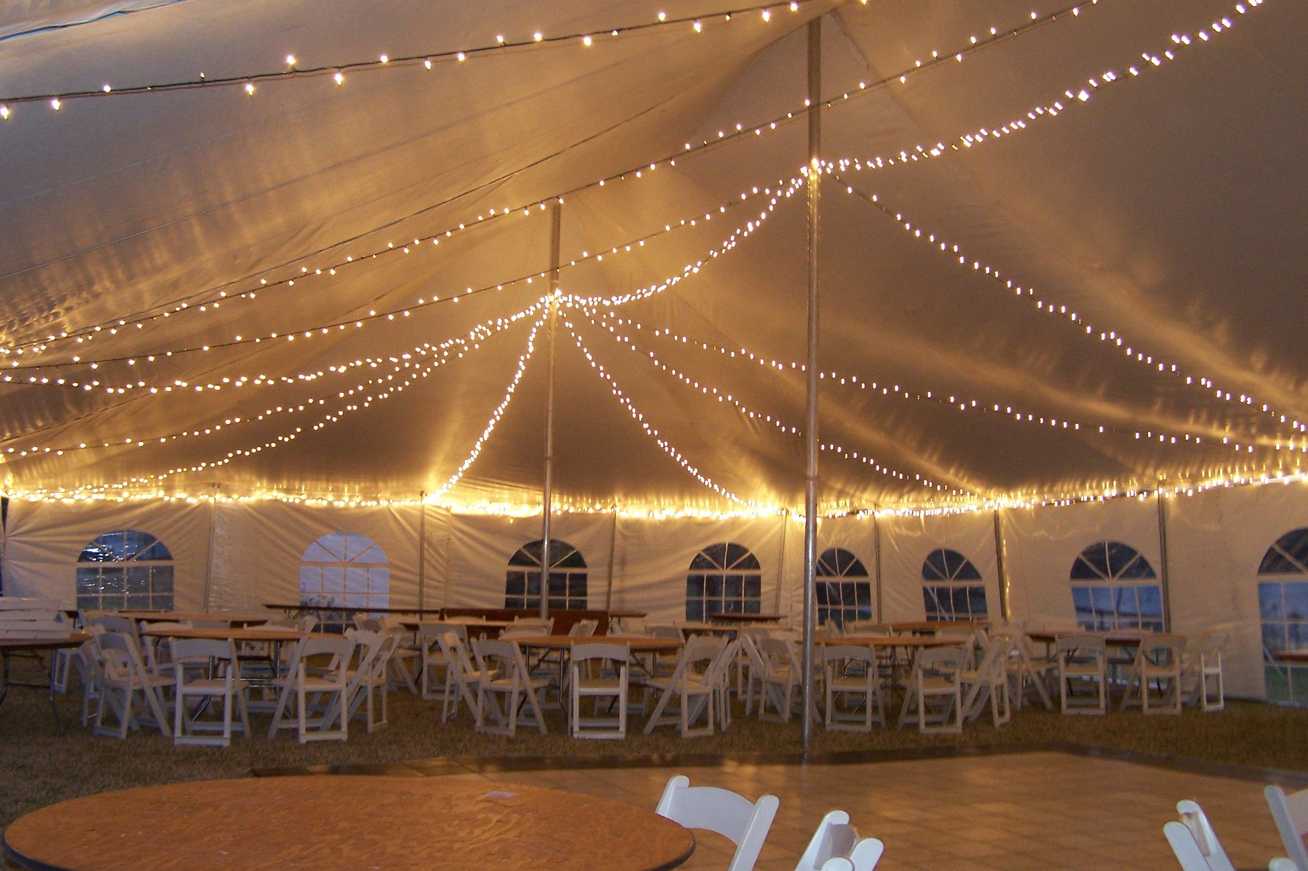 Here is a fun way to add lighting underneath your tent! String lights! This & Here is a fun way to add lighting underneath your tent! String ...
