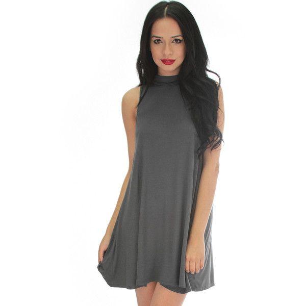 Fashion Club Usa Olivia Tank Shift Dress (394834205) ($40) ❤ liked on Polyvore featuring dresses, grey, sleeveless shift dress, gray shift dress, gray sleeveless dress, grey sleeveless dress and sleeveless dress