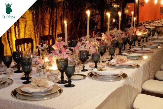 Olha que linda pode ficar a mesa da sua festa! Encontre tudo na #dfilipa.