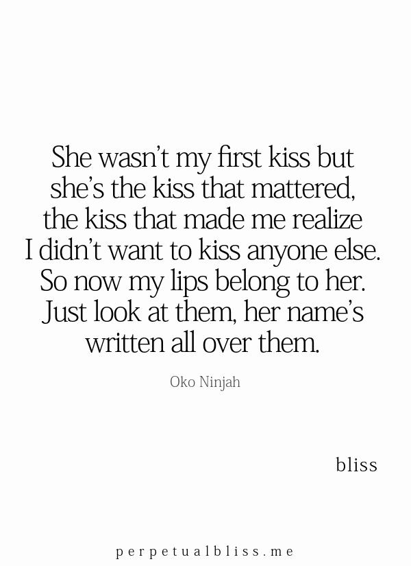 She Didn T Paucity To Kiss Me