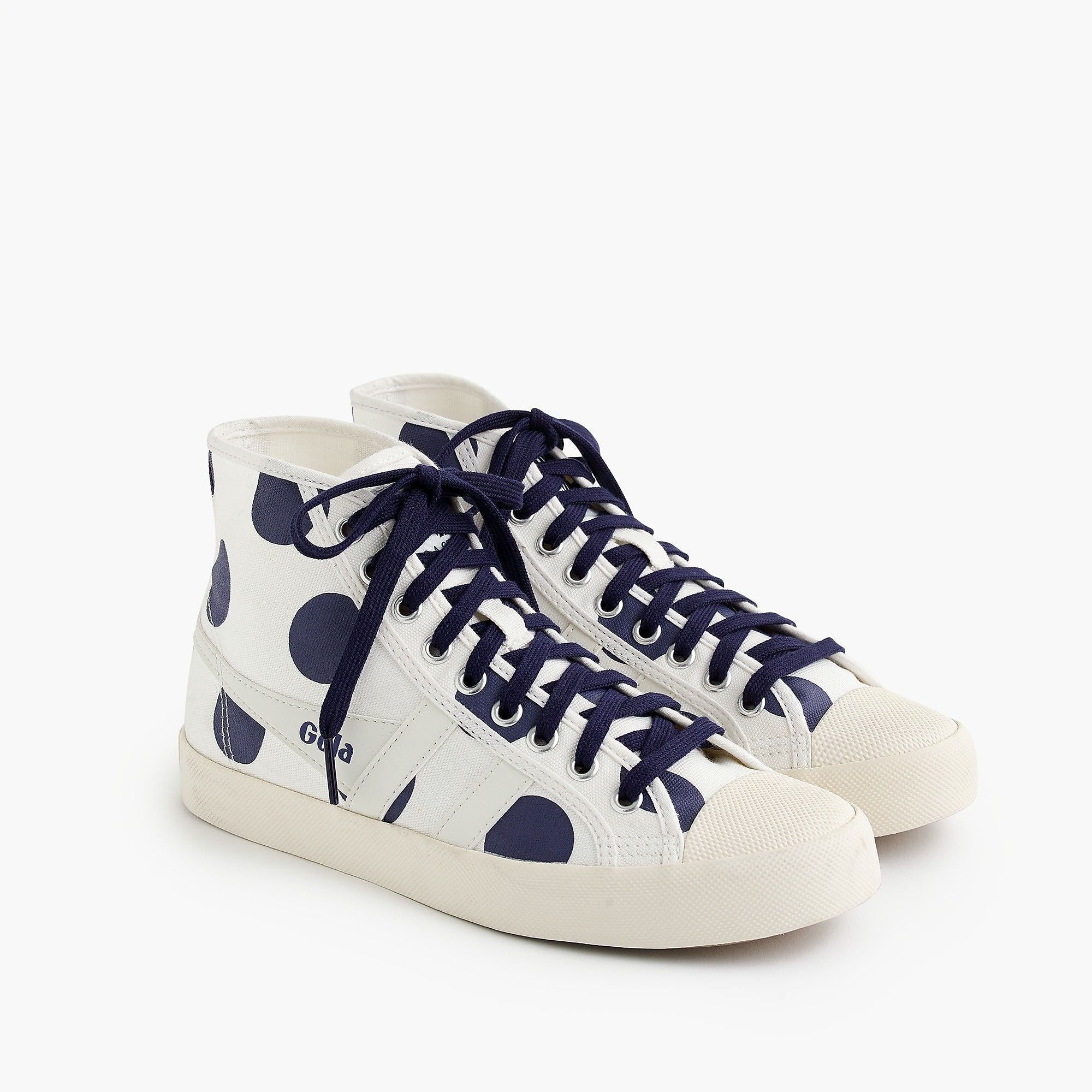 cc3bf0ecb491 Gola for J.Crew Coaster high-top sneaker in polka dot     shoes ...