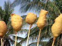 Corn Dog Variations: Gherkins, Baby corn, Shrimp, Mushrooms, Apple slices, Pineapple chunks, Hard-boiled eggs