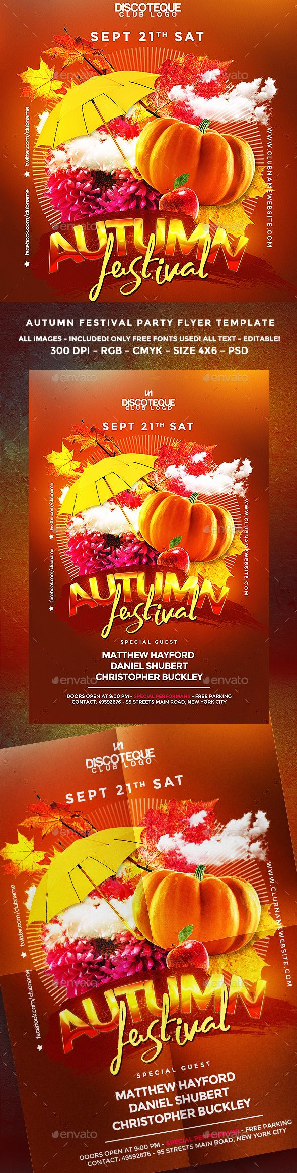 Fall Festival Flyer Pinterest Flyer Template Template And Party
