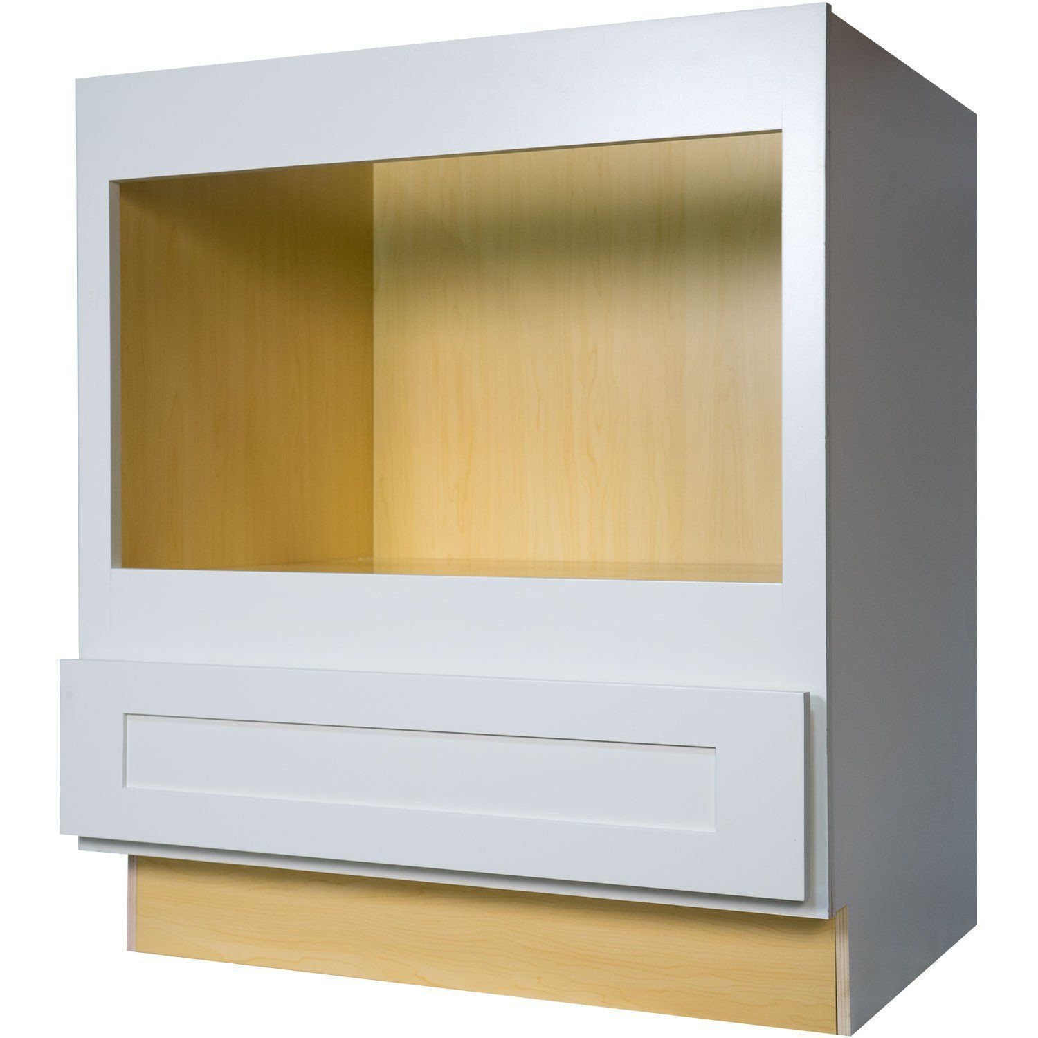 Lt P Gt The 30 Inch Microwave Base Cabinet In Gorgeous Shaker White Provides A Solution To Those Who Are Limi Base Cabinets Cabinet Built In Microwave Cabinet