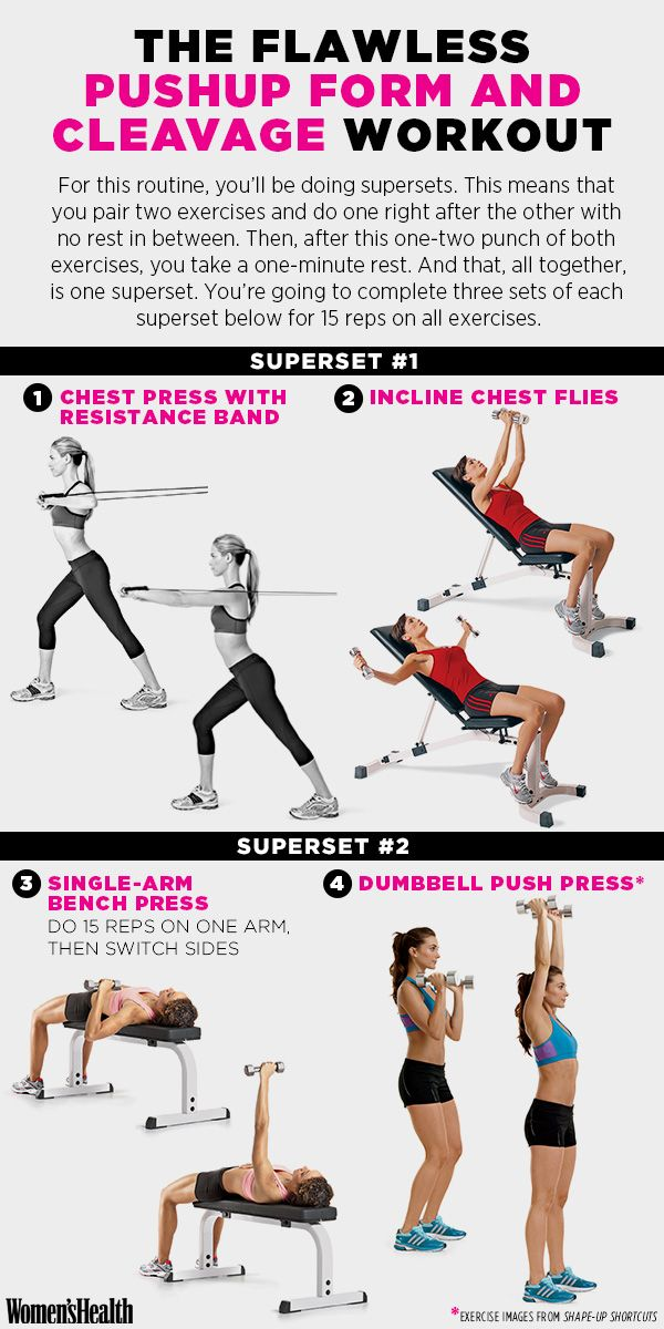 Do this workout for kickass pushup form and cleavage you