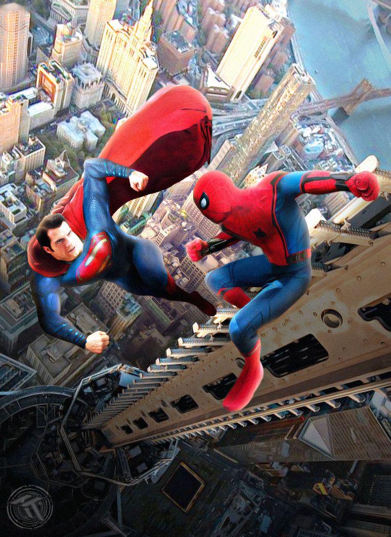 Unique Batman Vs Superman Bedroom Ideas That Rock: Superman Vs Spider-man By Timetravel6000v2.deviantart.com