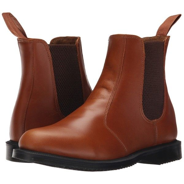 Dr. Martens Flora Chelsea Boot (Oak Analine) Women's Lace-up Boots (