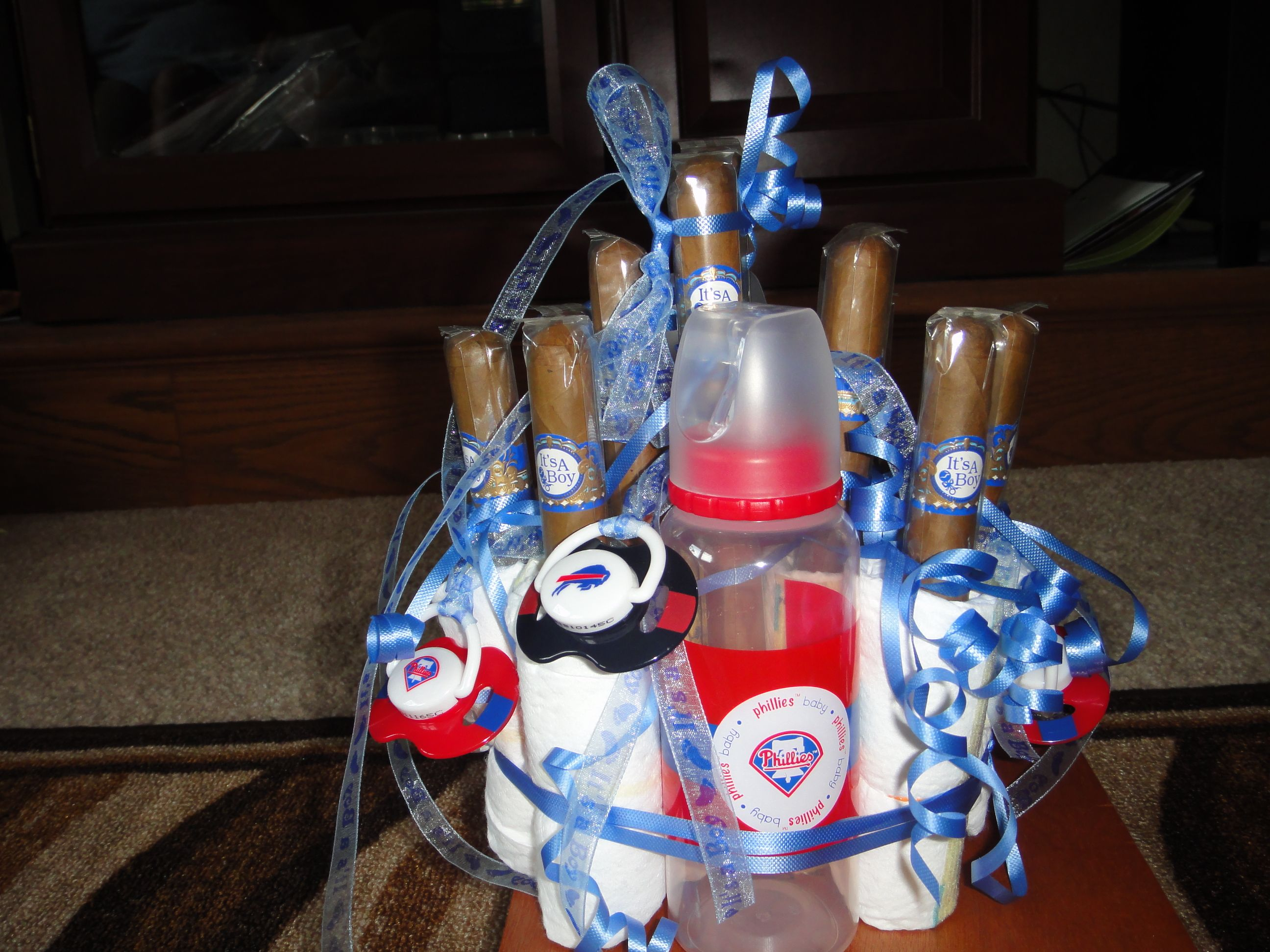 For the expectant father This Cigar diaper cake is a great t