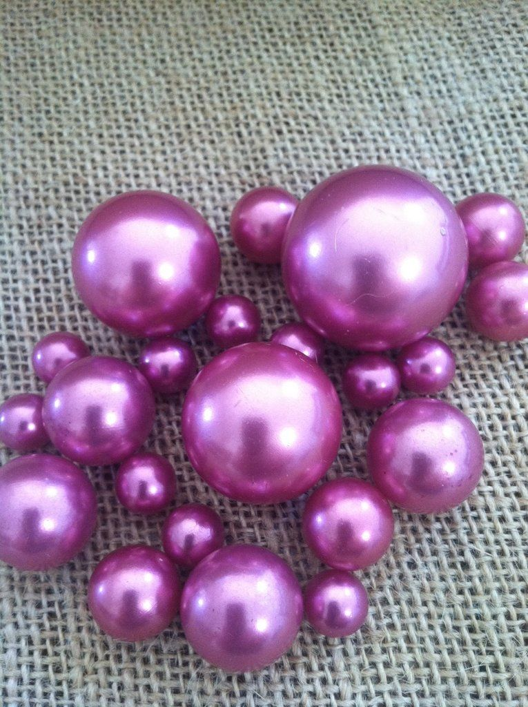 Orchid Purple Pearls For Floating Pearl Centerpieces Jumbo Pearl