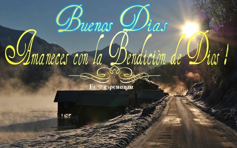 En este nuevo día, deseo que recibas todas las bendiciones de Dios derramadas en tu hogar, tu familia y tu vida !
