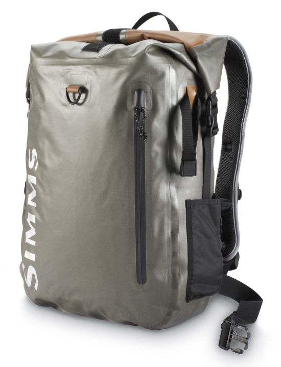 Simms dry creek roll top backpack vests packs for Fly fishing backpack