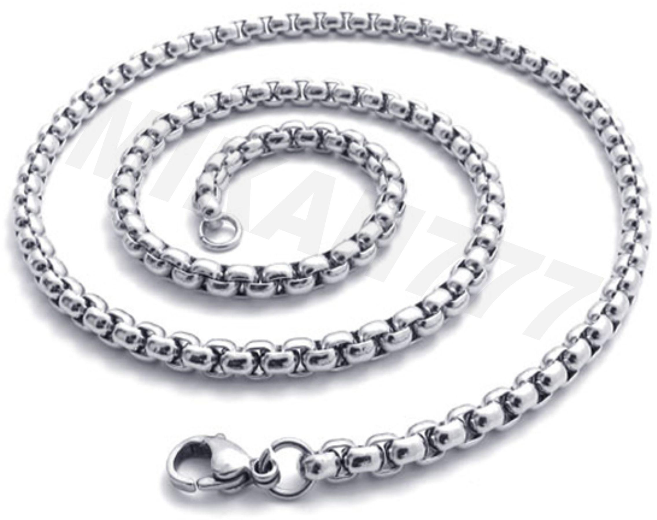 Corrente   Cordão em Aço Inox   Modelo  Veneziana Grossa.   Silver ... 9951fe3e61