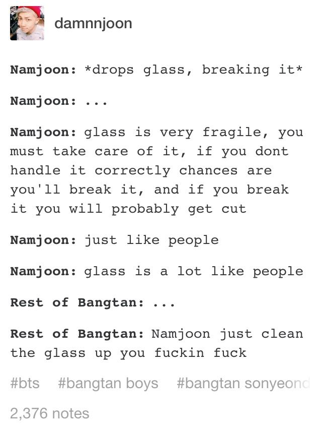 he doesn't have to drop the glass to break it, he could just