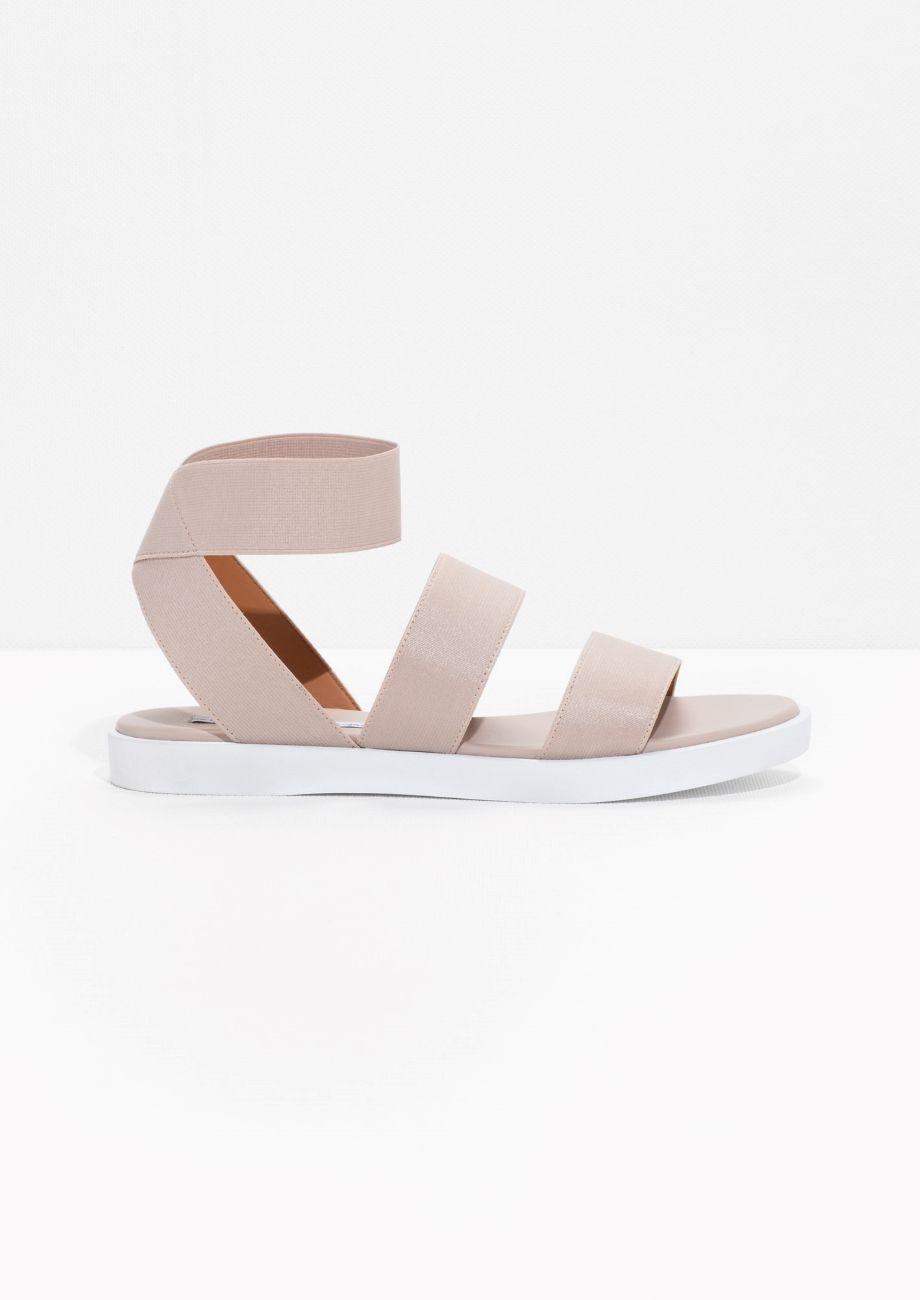 Other Stories Elastic Strap Sandal Beige Light Elastic Sandals Strap Sandals Sandals