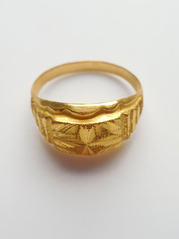 Vintage Thai Solid 23k Gold Ring Gold Rings Solid Gold Jewelry Solid Gold Rings